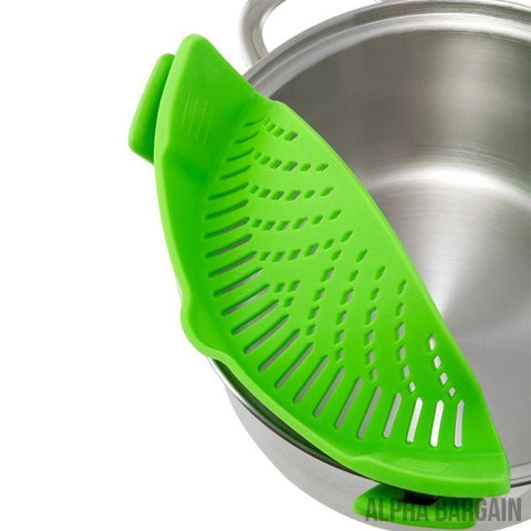 Image of Clip-On Snap Pan Strainer Alpha Bargain