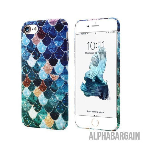 Image of Mermaid IPhone Cases Alpha Bargain Blue For iPhone 6 6S