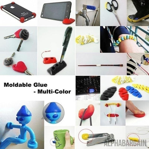 Image of 3 pcs Self-Setting Sugru Moldable Glue Vital Survivalist