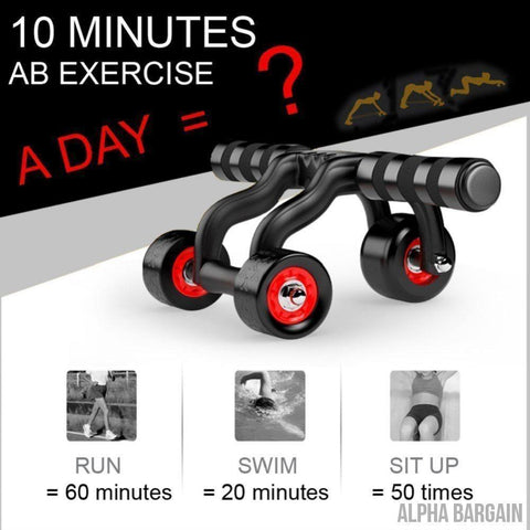 Image of FitTrack 3 Wheels Fitness AB Roller Alpha Bargain