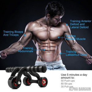 FitTrack 3 Wheels Fitness AB Roller
