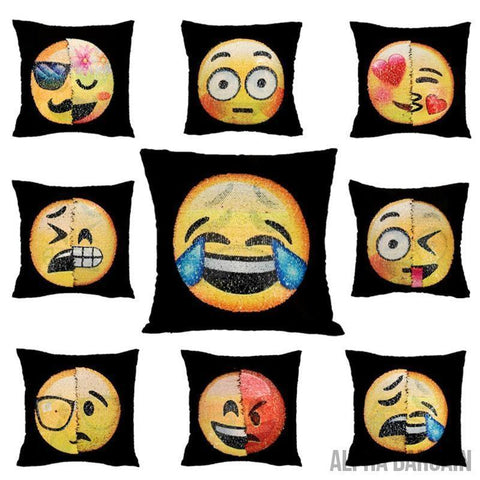Image of Face Changing Emoji Pillow Covers Alpha Bargain
