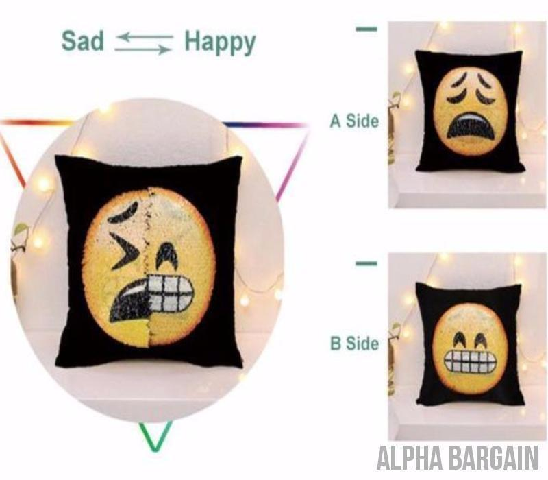 "Face Changing Emoji Pillow Covers Alpha Bargain Bummed/Gritting Teeth 16""x16"" (40*40)"