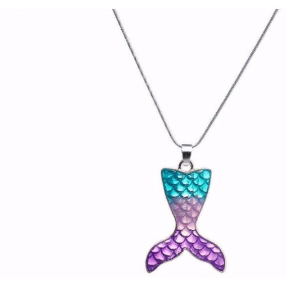 Mermaid Tail Pendant Necklace - Alpha Bargain