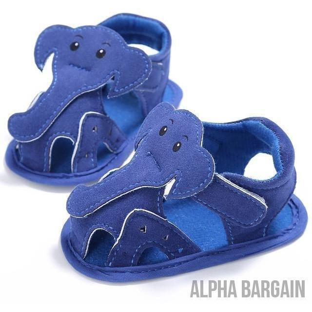 Cute Elephant Baby Shoes Alpha Bargain Blue 3