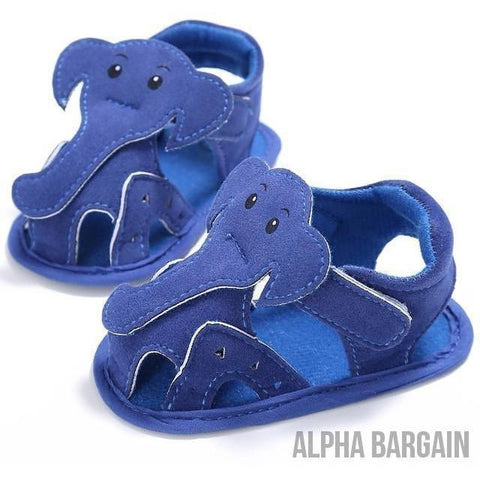Image of Cute Elephant Baby Shoes Alpha Bargain Blue 3