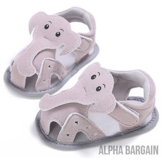Cute Elephant Baby Shoes Alpha Bargain KHAKI 3