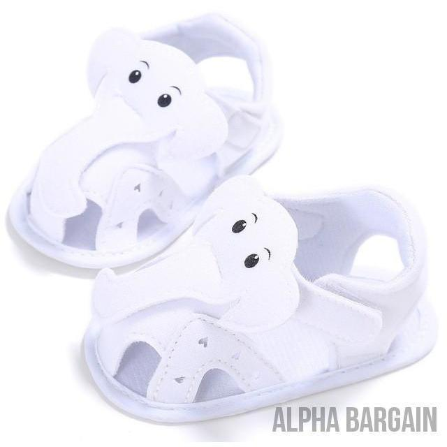 Cute Elephant Baby Shoes Alpha Bargain White 3