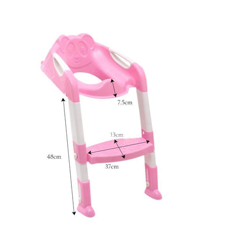 Baby Toilet Trainer Safety Seat Chair Step with Adjustable Ladder Vital Survivalist