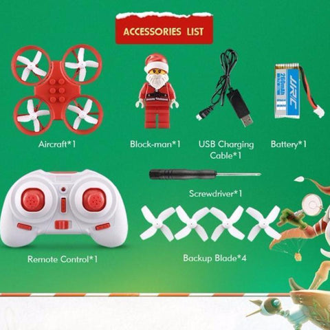 Image of Flying Santa Claus Mini RC Drone Alpha Bargain