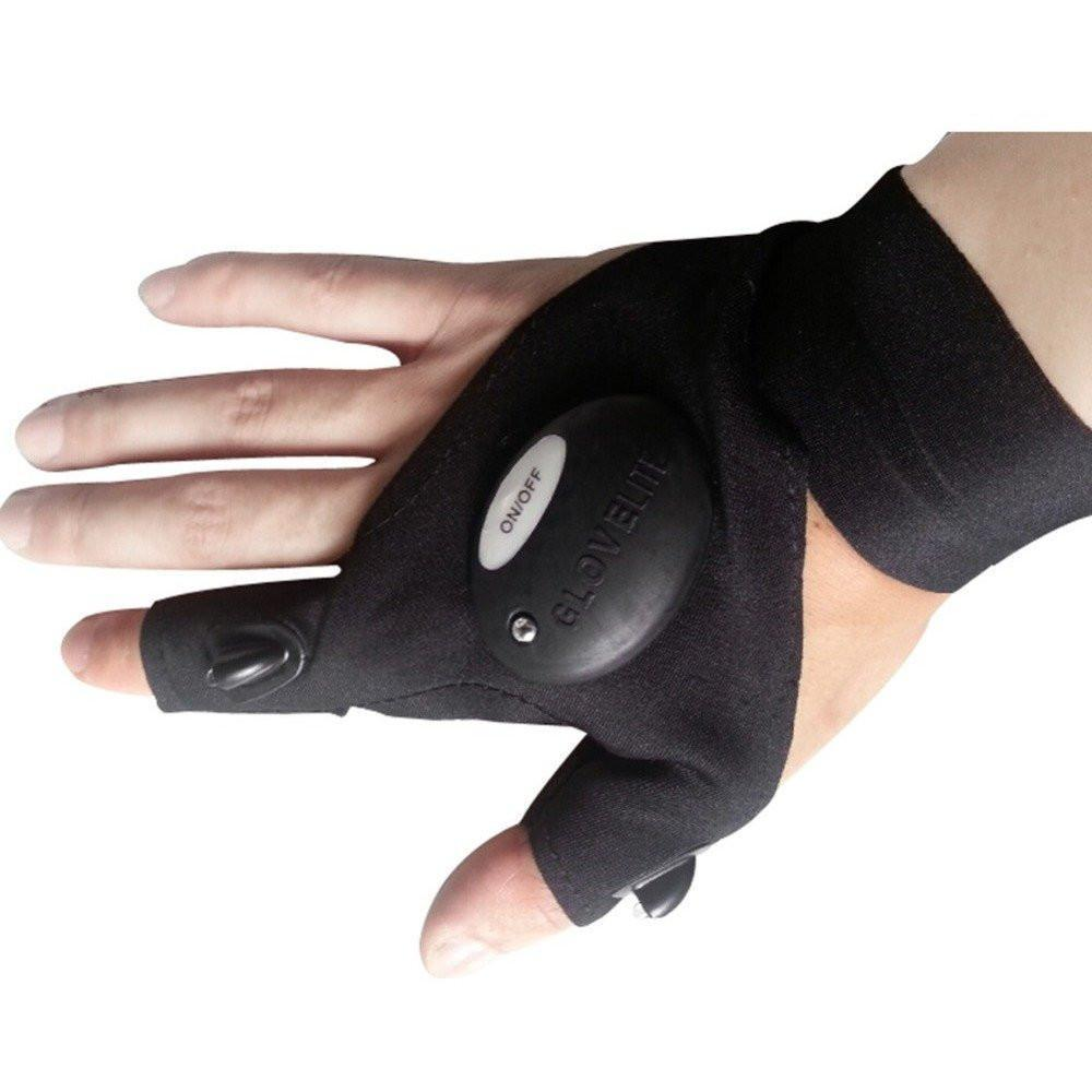 Magic Strap Fingerless LED Glove - The First Ever- Hands Free Flashlight Glove LED Vital Survivalist