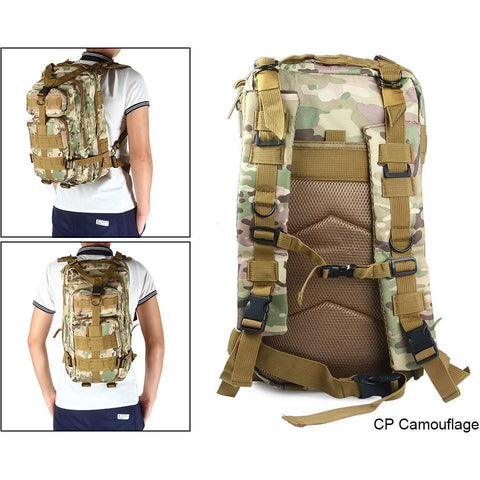 Image of Military Tactical Backpack Great For Camping, Hunting, Hiking Vital Survivalist