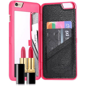 IPhone Mirror & Wallet Case By Josephina Crystal - Alpha Bargain
