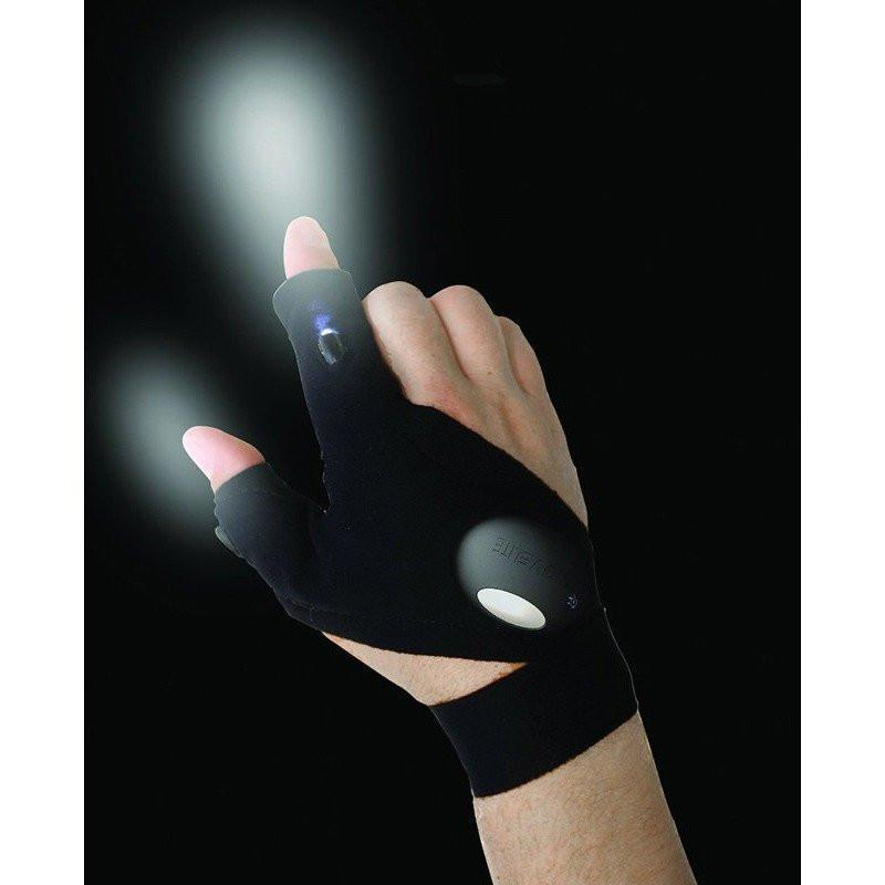 Magic Strap Fingerless LED Glove - The First Ever- Hands Free Flashlight Glove - Alpha Bargain
