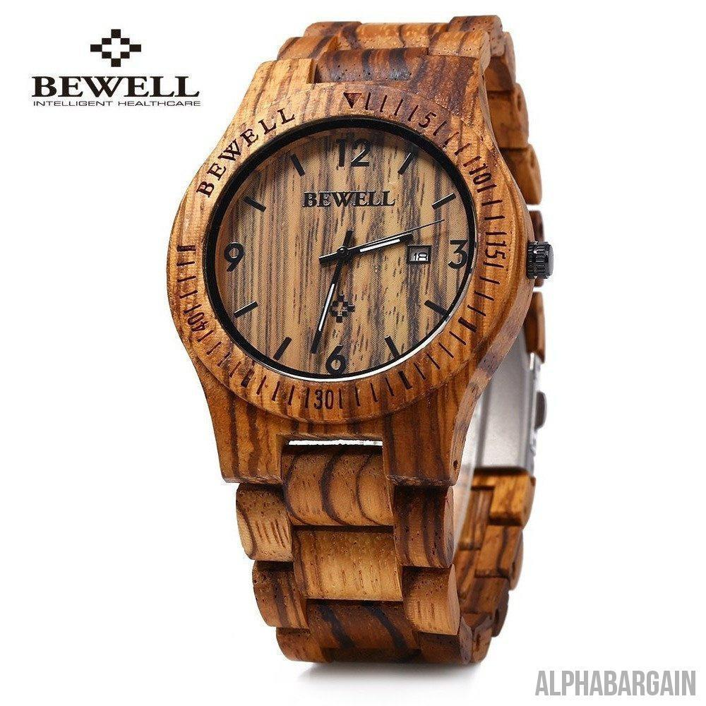 Bewell  Luxury Wood Watch - Alpha Bargain