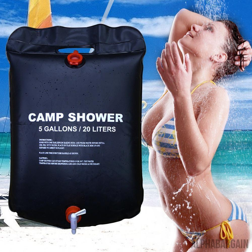 20L / 5 Gallons Solar Energy Heated Camp Shower - Alpha Bargain