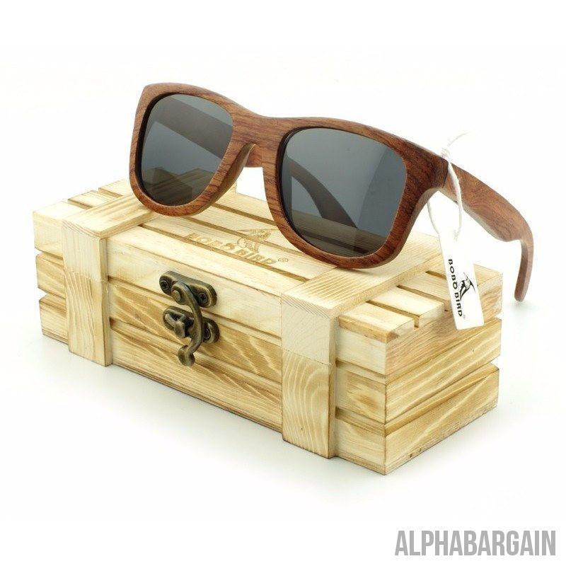 Bobo Bird Hand Made Bamboo Wood Polarized Sunglasses + FREE gift box - Alpha Bargain