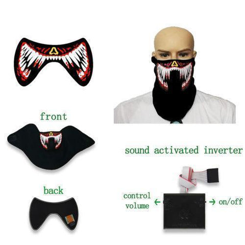 TRON LED Masks Vital Survivalist Red Fangs