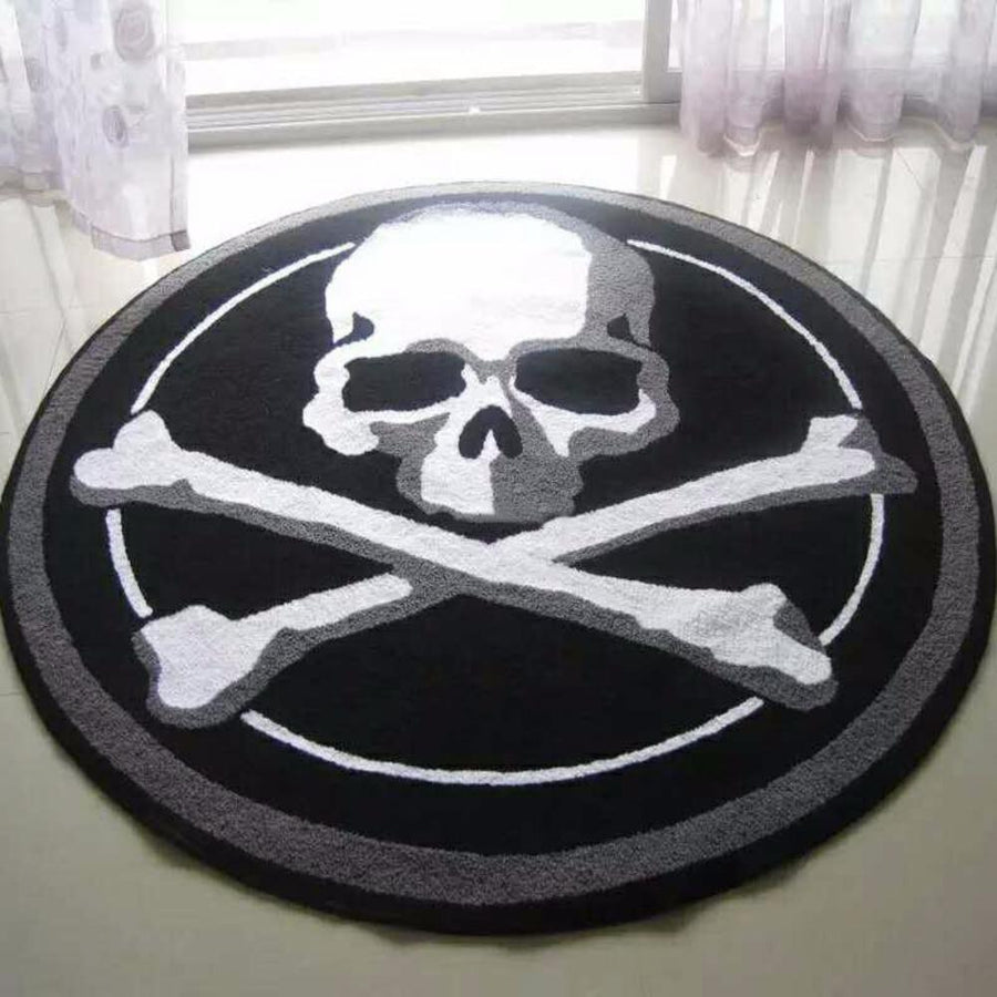 Skull Lovers Round Carpet - Alpha Bargain