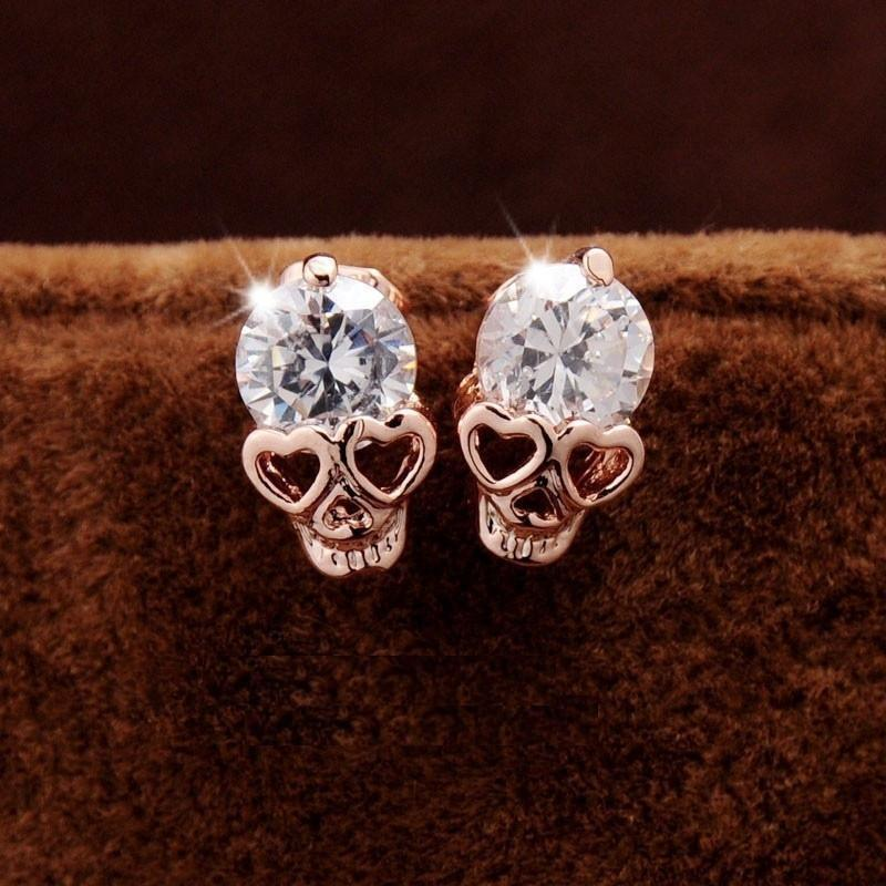 Skull Heads Stud Earring Alpha Bargain
