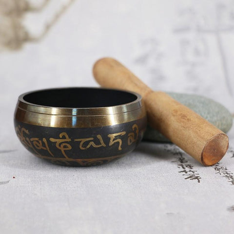 Image of Tibetan Singing Bowl With Hand Stick