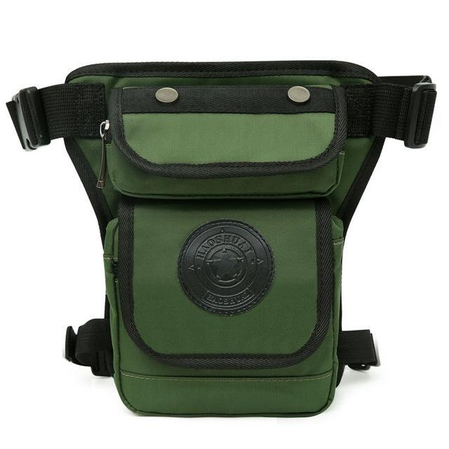 Smaller High Quality Waterproof Nylon Leg Bag Waist Packs PackBags Store Army Green