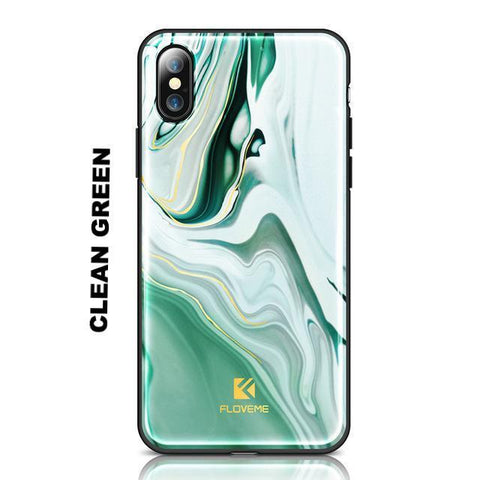 Image of Agate Art Case For iPhone Fitted Cases Alpha Bargain Clean Green For iPhone X
