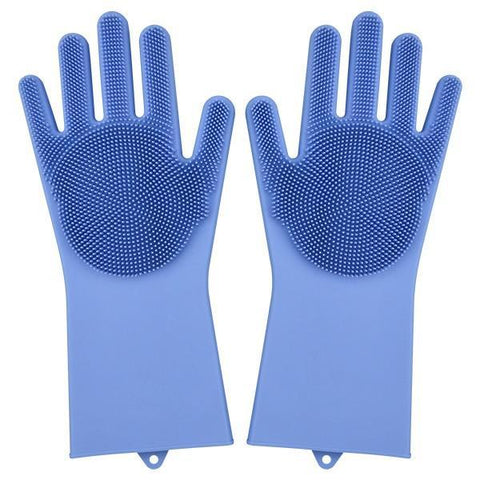 Image of Magic Silicone Gloves Household Gloves Alpha Bargain Blue
