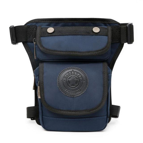 Image of Smaller High Quality Waterproof Nylon Leg Bag Waist Packs PackBags Store Navy