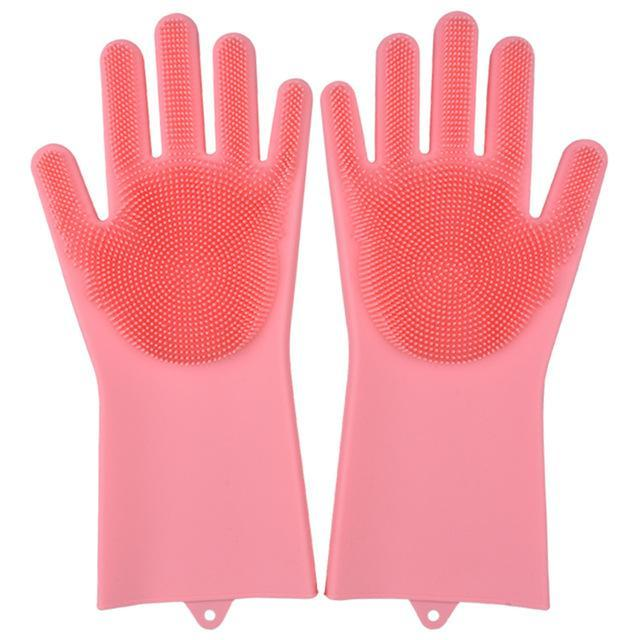 Magic Silicone Gloves Household Gloves Alpha Bargain Pink