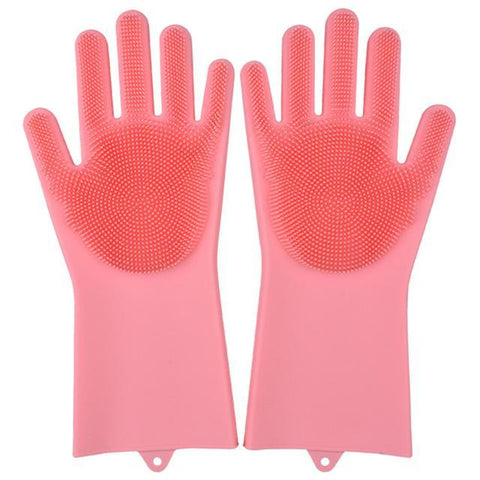 Image of Magic Silicone Gloves Household Gloves Alpha Bargain Pink