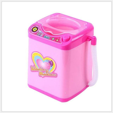 Image of Mini Washing Machine Makeup Brush Cleaner Furniture Toys Alpha Bargain Pink