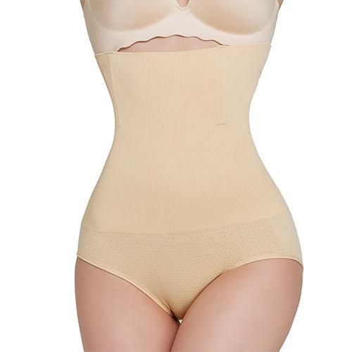 High-Waisted Tummy Shaper Control Panties Alpha Bargain Skin XS