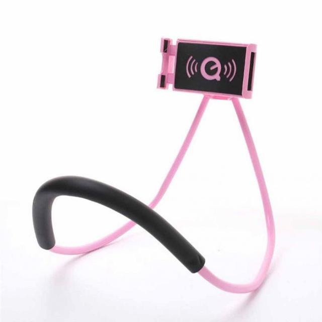 Versa Hanging Neck Phone Stand Mobile Phone Holders & Stands Jewelry Mall -Moonar pink