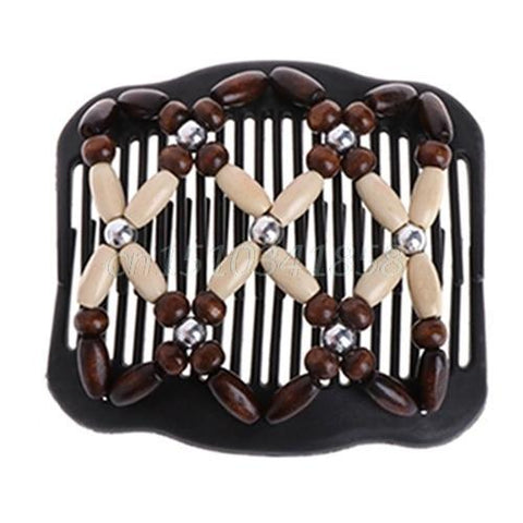 Fashion Magic Beads Double Hair Comb Hair Jewelry Alpha Bargain