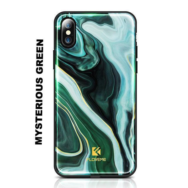 Agate Art Case For iPhone Fitted Cases Alpha Bargain Mysterious Green For iPhone X