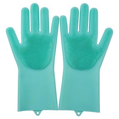 Image of Magic Silicone Gloves Household Gloves Alpha Bargain Green