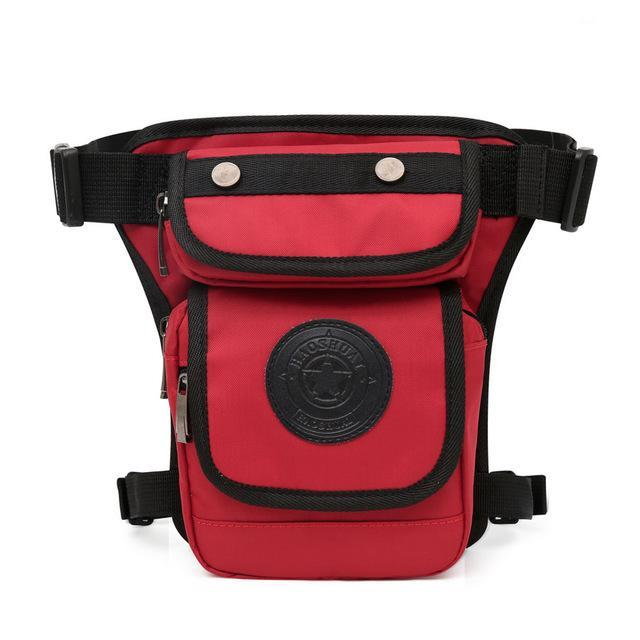 Smaller High Quality Waterproof Nylon Leg Bag Waist Packs PackBags Store Red