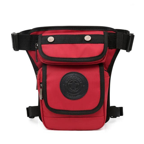Image of Smaller High Quality Waterproof Nylon Leg Bag Waist Packs PackBags Store Red