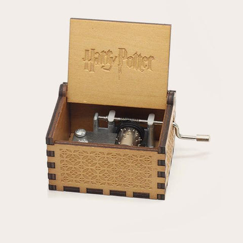 Harry Potter Wooden Music Box Music Boxes Six trees Store