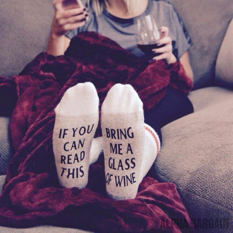 Bring Me Wine Socks Alpha Bargain