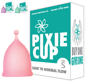 Pixie Menstrual Cup in Small, Large and Extra Large Period Cup