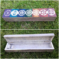 Chakra Carved Soapstone Incense Box