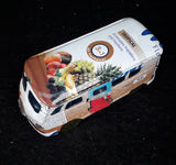VW CAMPERVAN MODEL made from RECYCLED TIN CANS