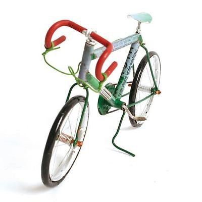 recycled tin can racing bike model