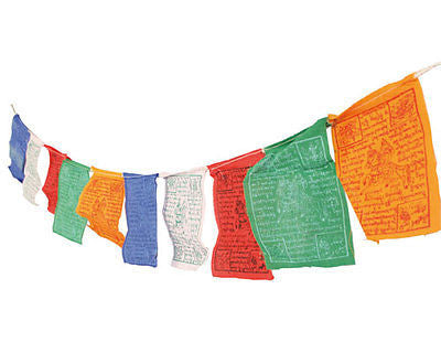 mini Tibetan prayer flags