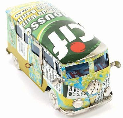 recycled tin can vw campervan model