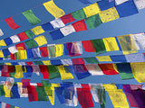 TIBETAN PRAYER FLAGS - 10 MINI FLAGS on 1.2m STRING