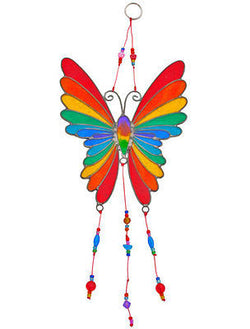 rainbow butterfly suncatcher
