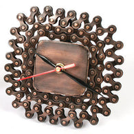 recycled bike chain desk clock